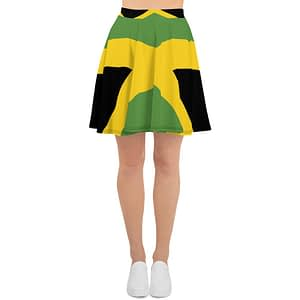Jamaican skater skirt at Rasta Gear Shop Jamaican womens clothing and accessories.