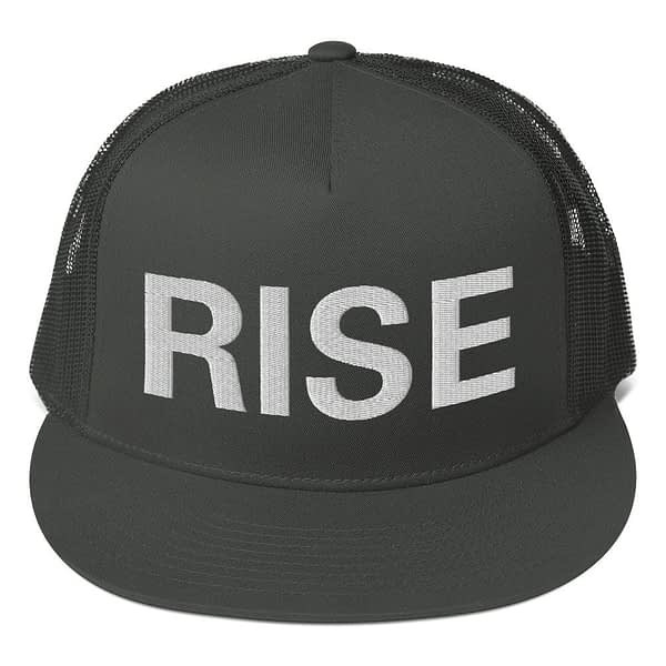 Rise Trucker Cap in a selection of colors. Classic trucker cap style with a cool fabric blend. Original Rastafarian, Reggae and Jamaican merchandise.