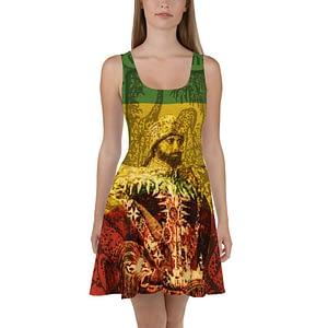 Haile Selassie Skater Dress Rastagearshop