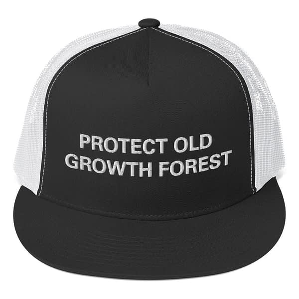 Protect Old Growth Forest Trucker Cap at Rasta Gear Shop Original Rastafarian Jamaican and Reggae designs on Clothing and merchandise.